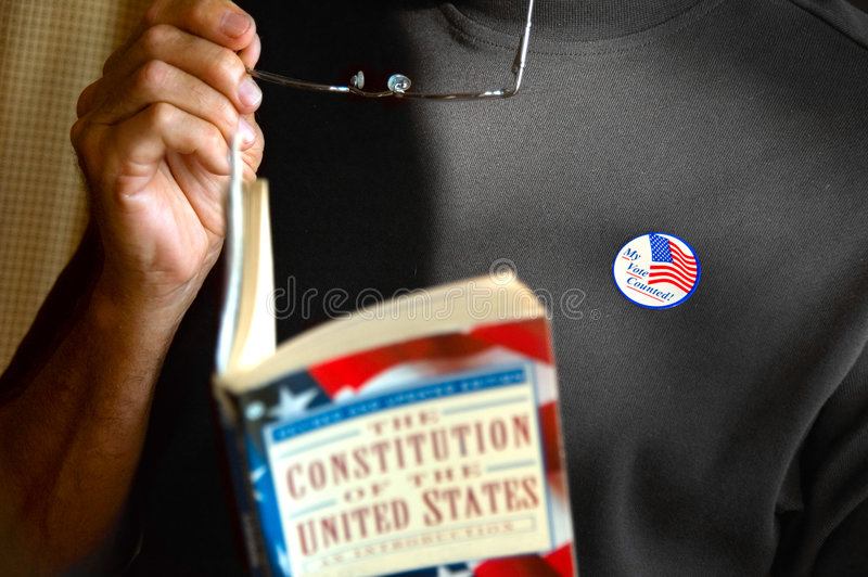 Male voter royalty free stock photo