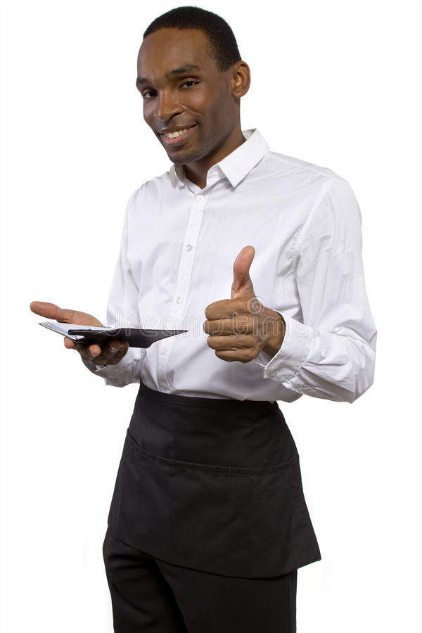 Download Male Waiter With Apron Royalty Free Stock Photography - Image: 38277627