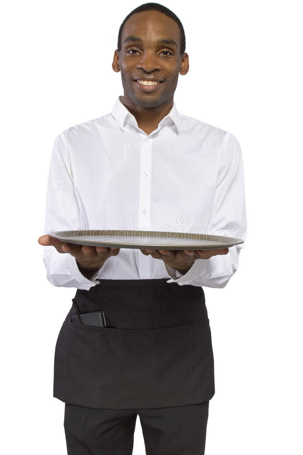 Download Male Waiter With A Tray Stock Photos - Image: 38277803