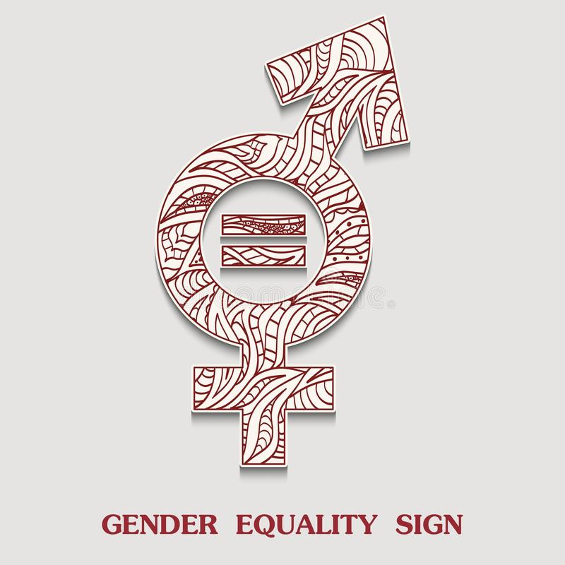 Free Male With The Stroke Siymbol For Transgender Is A Transgendered Sexuality Sign With A Pattern In Tribal Indian Style. Royalty Free Stock Image - 101591946