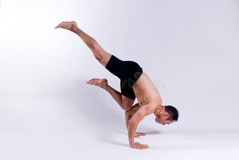 Male yoga model