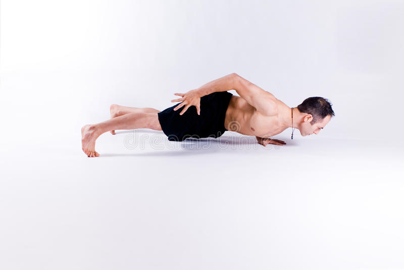 Download Male yoga model stock photo. Image of practice, white - 28356788