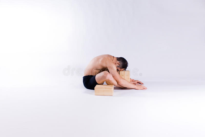 Male Yoga Model Royalty Free Stock Images