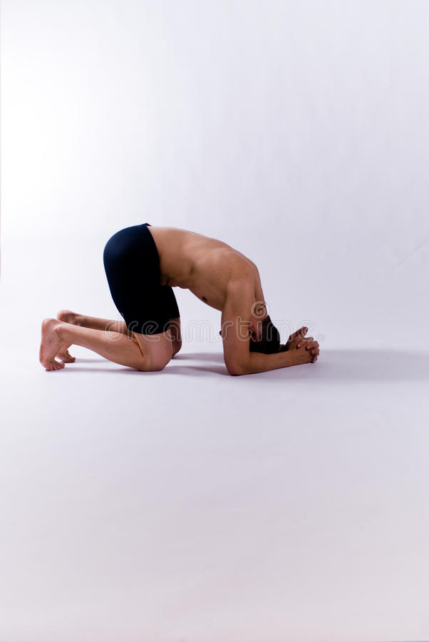 Download Male yoga model stock photo. Image of white, model, chakra - 28356826