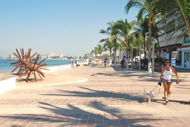 Malecón в Puerto Vallarta, Мексике II стоковое фото