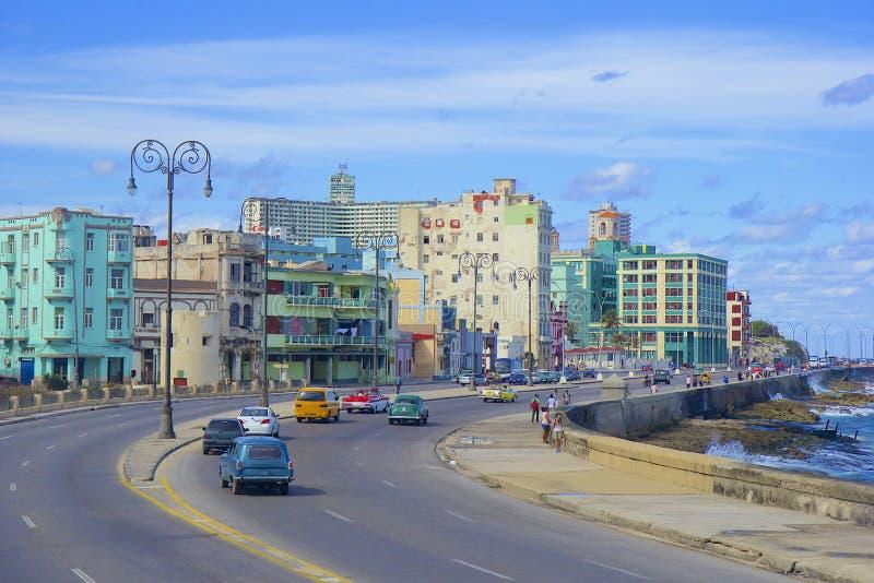 Malecon a Avana, Cuba fotografia stock libera da diritti