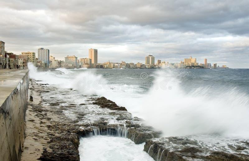 Malecon de La Habana imagen de archivo