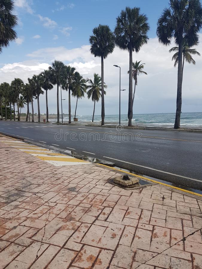 Malecon de Santo Domingo immagine stock
