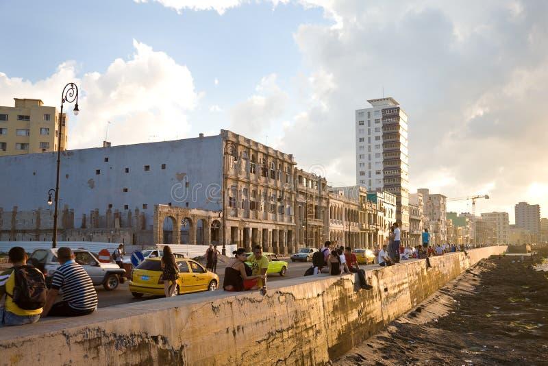 Malecon, Havana stockbilder