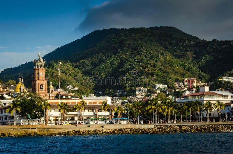 Malecon - Puerto Vallarta, Mexico stock photography