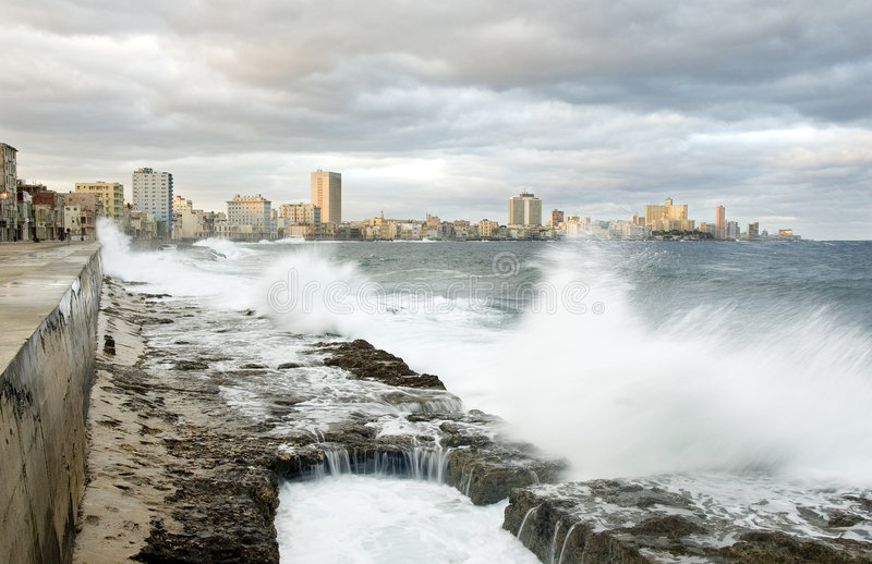 Malecon van Havana stock afbeelding