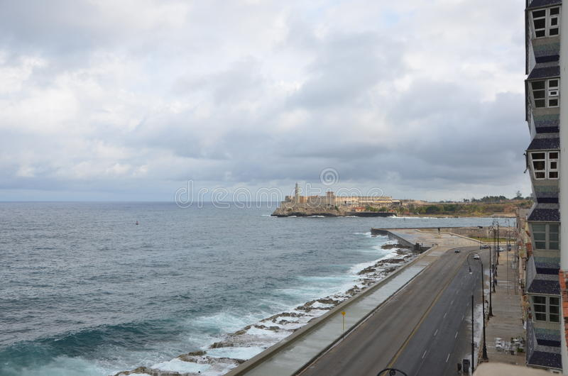 Maleconochtend, Havana, Cuba, 2012 royalty-vrije stock afbeelding