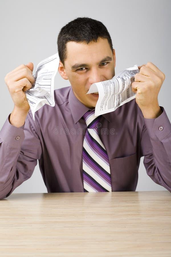 Maledica le tasse! immagini stock