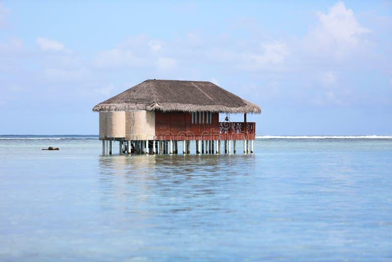 Malediven-Bungalow lizenzfreies stockbild