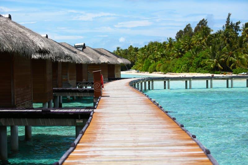 Malediven-Erholungsort stockfotos