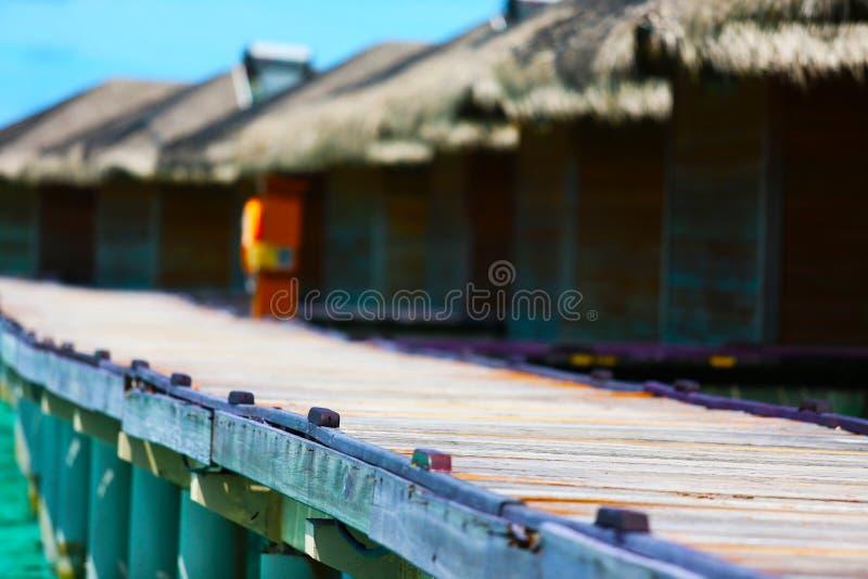 Malediven-Erholungsort stockbilder