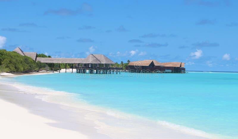 Malediven-Ozean ist ehrfürchtig stockfotografie