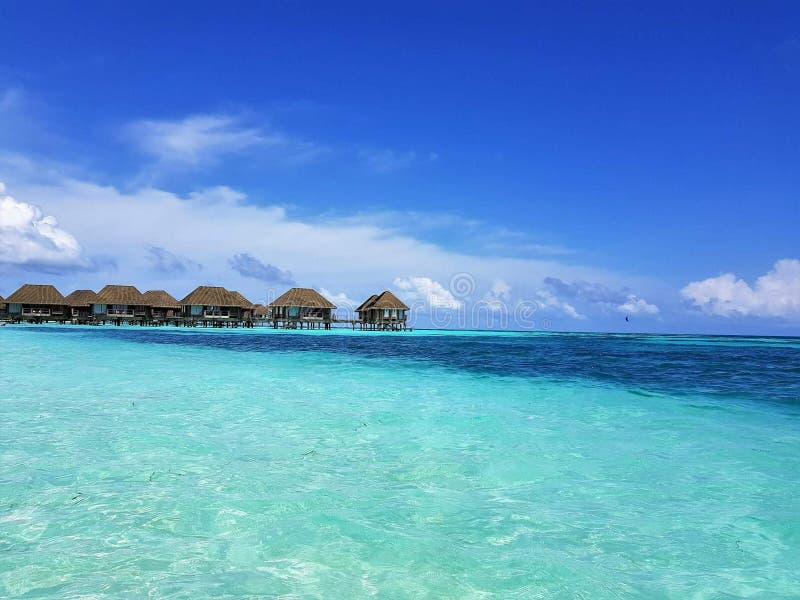 Malediven-Strand Kani Club Med lizenzfreie stockfotos