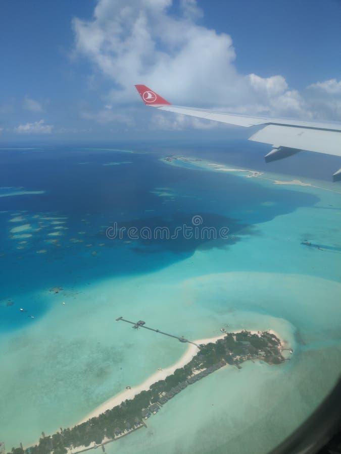 Malediven von oben stockfotos