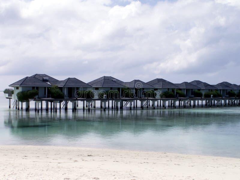 Maledives - ilha de Sun imagens de stock