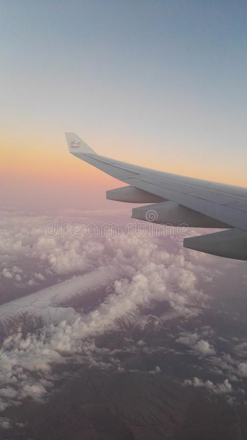 Maledives from plane. In the water royalty free stock images