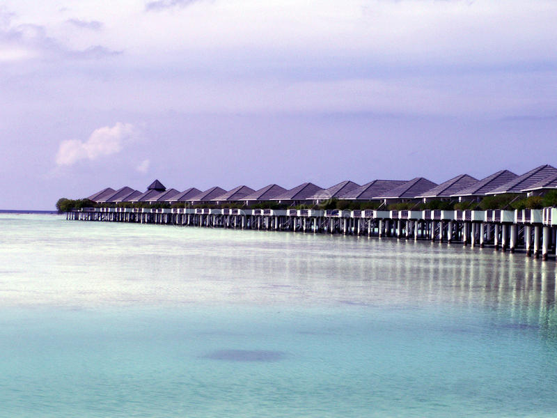 Maledives - słońce wyspa obraz royalty free