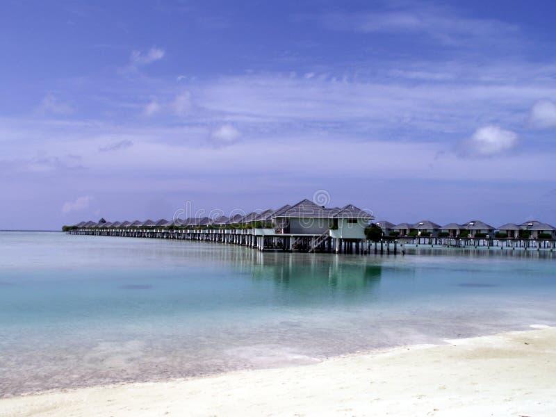Maledives - Zoneiland stock afbeelding