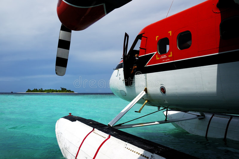 Maledivische Luft stockbild