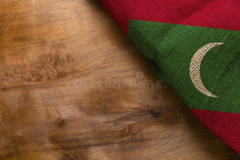 Malediwy bandery zdjęcie stock