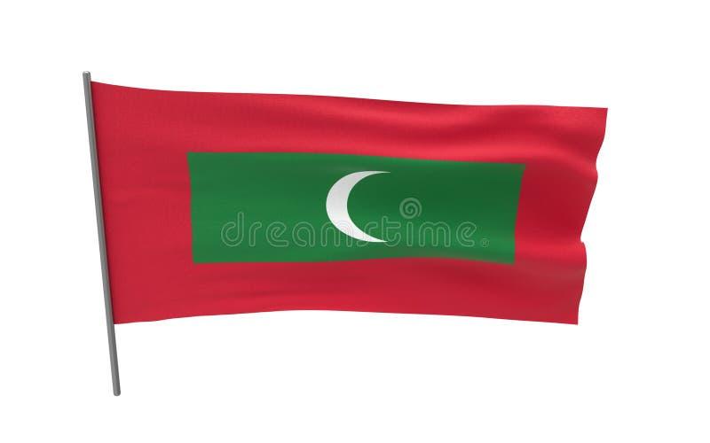 Malediwy bandery royalty ilustracja
