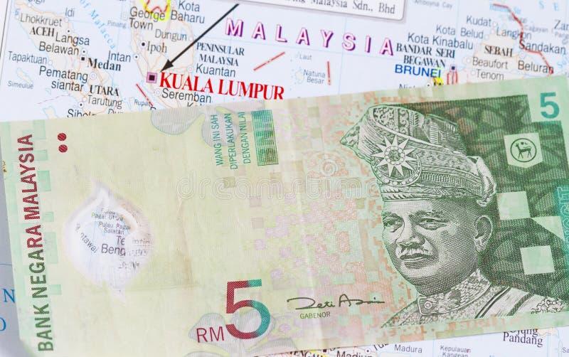 Maleis geld in een kaart stock foto