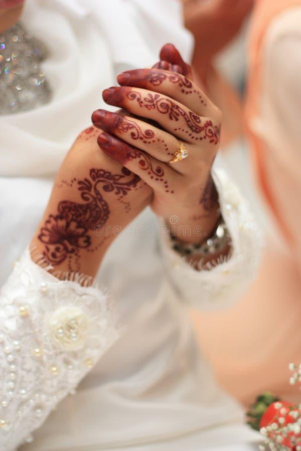 Maleis traditioneel huwelijk. royalty-vrije stock fotografie