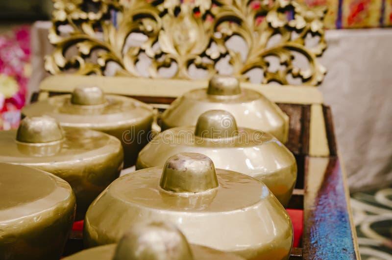 Maleis traditioneel muziekinstrument genoemd Gamelan stock foto's