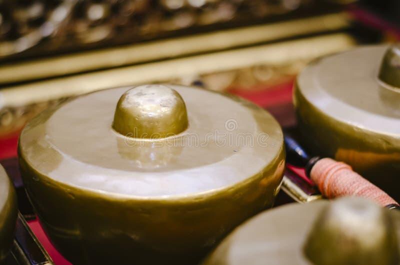 Maleis traditioneel muziekinstrument genoemd Gamelan stock fotografie