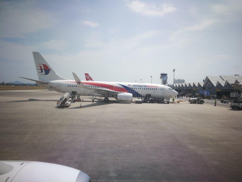 Maleise vluchtluchtvaartlijnen royalty-vrije stock foto