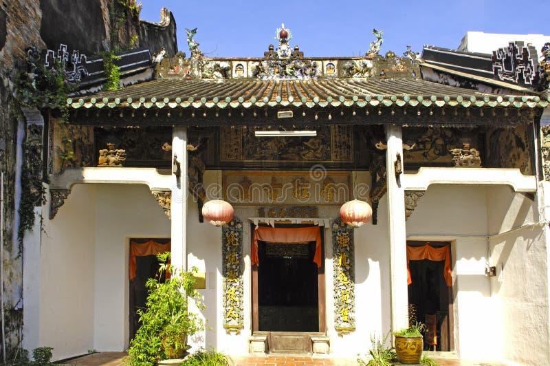 Maleisië; Penang; Chinese tempel stock foto