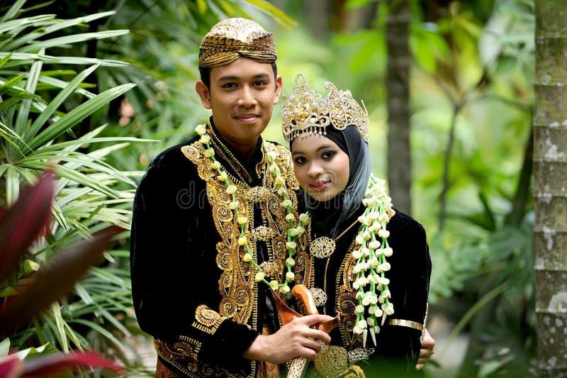 Maleisisch Huwelijkspaar royalty-vrije stock afbeelding
