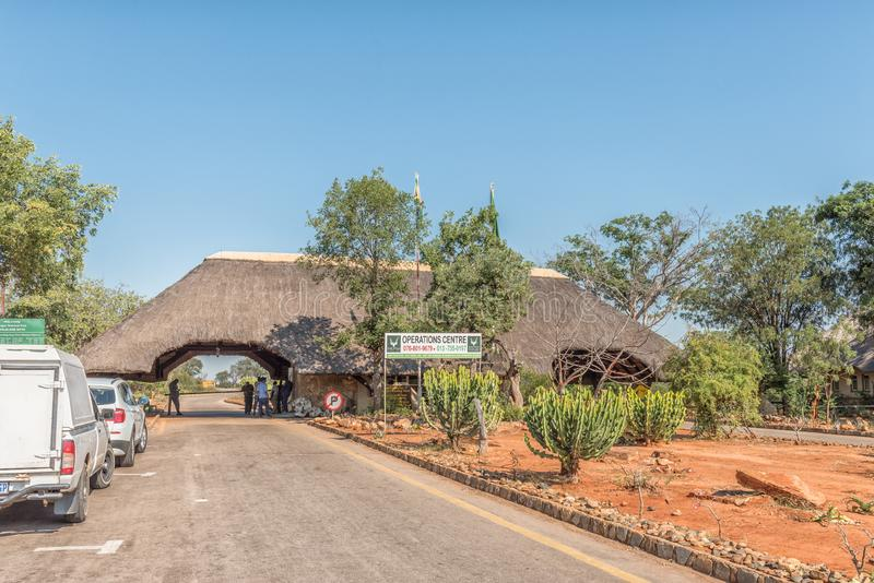 Malelane ingångsport till den Kruger nationalparken royaltyfri bild