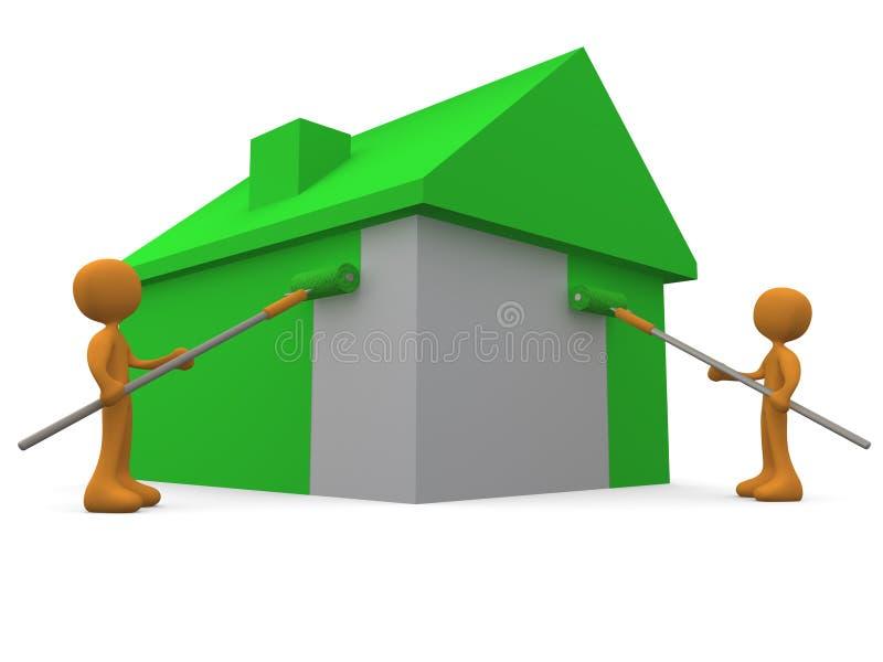 Malen eines Hauses vektor abbildung