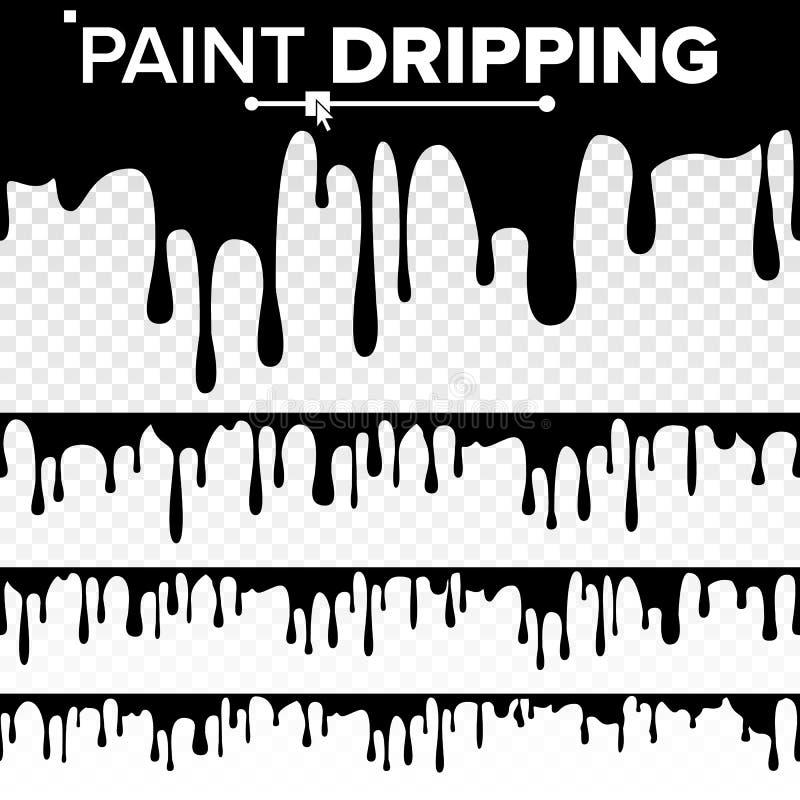 Malen Sie Bratenfett-Flüssigkeits-Vektor Abstrakte gegenwärtige Farbe, Flecke Schokolade, Sirup-Lecken Getrennte Abbildung stock abbildung