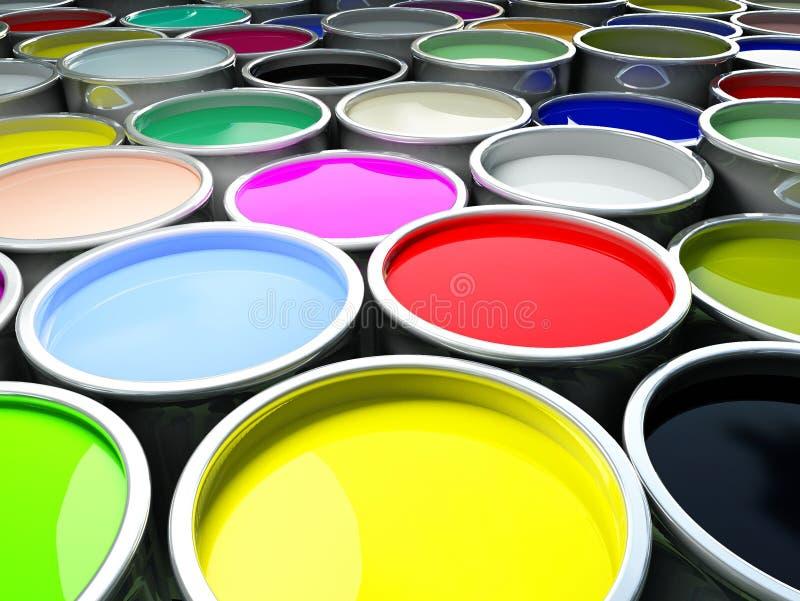 Malen Sie Farbenhintergrund stockbild