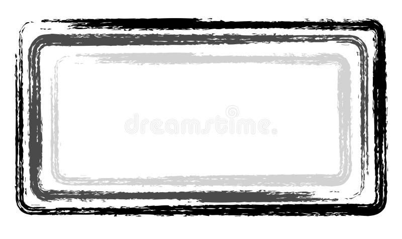 Malen Sie graues Schwarzes der Anschlagrahmeninternatsschüler-Aufkleber stockfotos