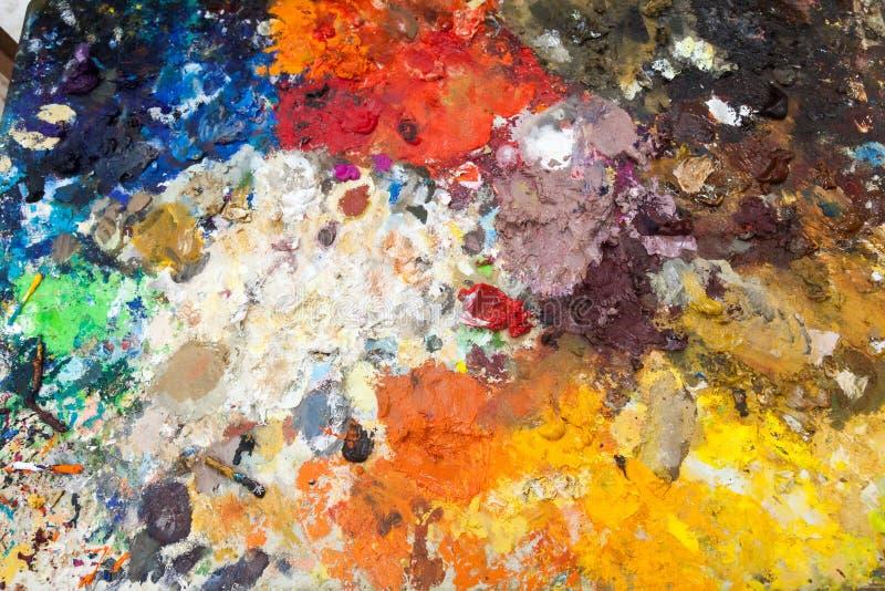 Malen Sie pallete Ansichten um Curaçao-Karibikinsel lizenzfreies stockbild