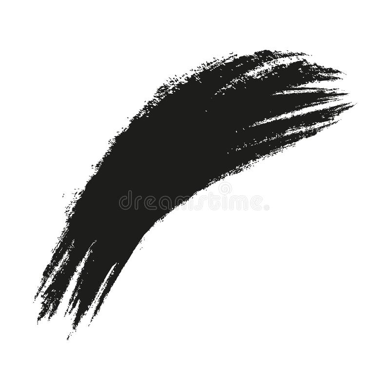 Malen Sie plätschern Hintergrund Schmutzbedrängniskalligraphie-Tintenflecke Schwarze Tintenschlagexplosion Plätschern Sie Hinterg vektor abbildung