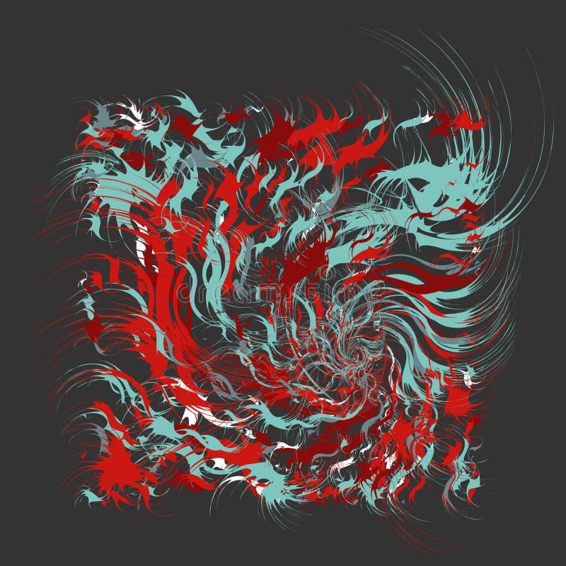 Malen Sie spritzt abstrakten Hintergrund vektor abbildung