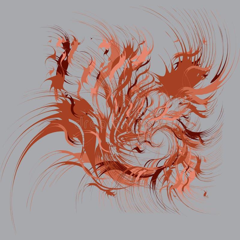 Malen Sie spritzt abstrakten Hintergrund lizenzfreie abbildung