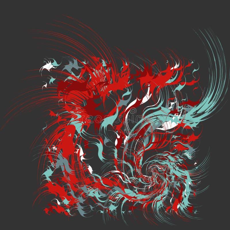 Malen Sie spritzt abstrakten Hintergrund stock abbildung