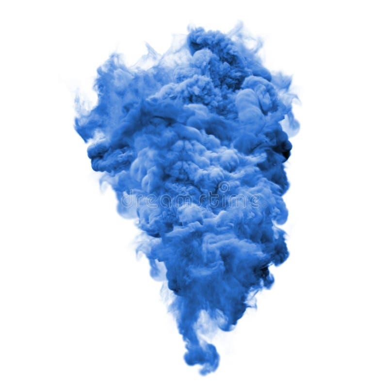 Malen Sie taubenblauen Farbexplosionspartikel-Staubwolken-Spritzenzusammenfassungs-Beschaffenheitshintergrund lizenzfreies stockfoto