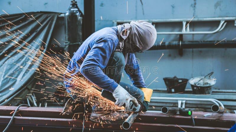 Malend staal en Staallassen royalty-vrije stock afbeelding