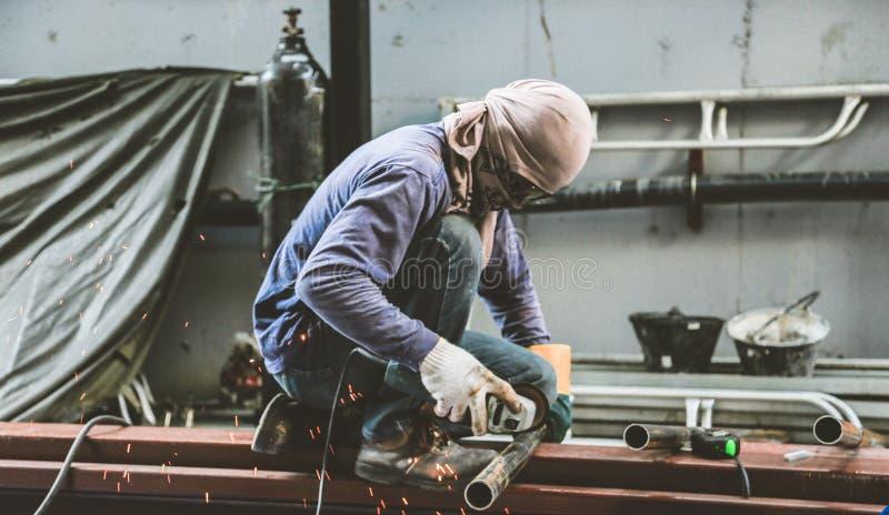 Malend staal en Staallassen stock fotografie